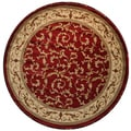 Traditional Scroll Red Veronica Area Rug (5'3 Round)