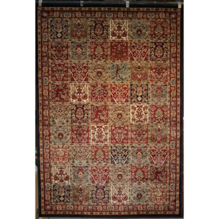 Panel Red Area Rug (5'3 x 7'7)
