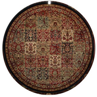 Panel Red Area Rug (5'3 Round)