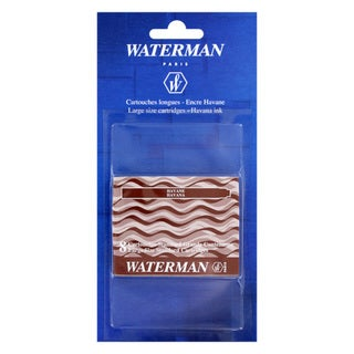 Waterman Havana Brown Fountain Pen Ink Cartridges (Pack of 8)