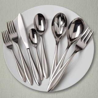 Ginkgo Fontur 42-Piece Stainless Steel Flatware Set