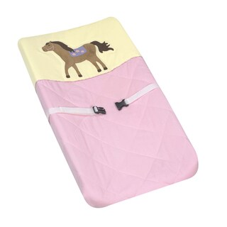 Sweet JoJo Designs Pretty Pony Horse Changing Pad Cover