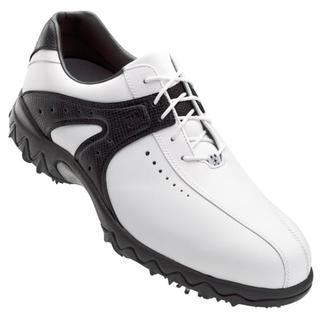 FootJoy Men's Contour Series Black and White Golf Shoes