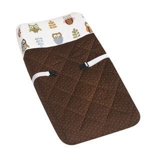 Sweet JoJo Designs Brown Night Owl Changing Pad Cover