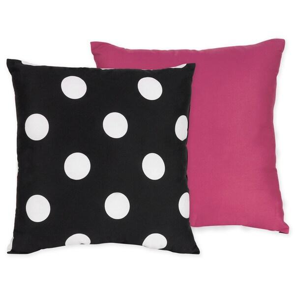 Sweet JoJo Designs Hot Dot Decorative Throw Pillow