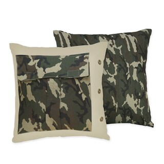 Sweet JoJo Designs Camo Throw Pillow