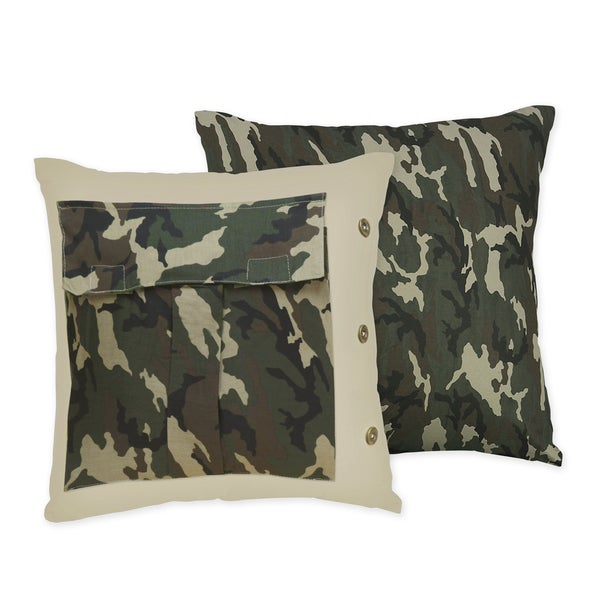 Sweet JoJo Designs Camo Throw Pillow