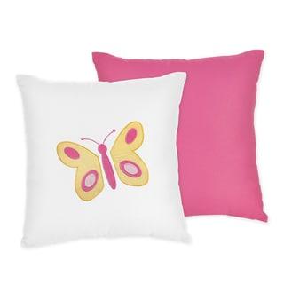 Sweet JoJo DesignsPink Butterfly Throw Pillow