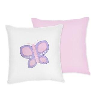 Sweet JoJo Designs Pink Butterfly Throw Pillow
