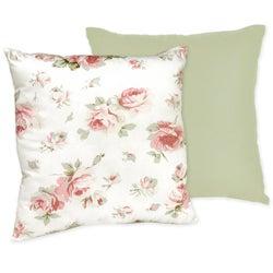 Sweet JoJo Designs 'Riley's Roses' Reversible 16-inch Decorative Pillow
