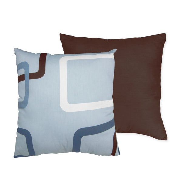 Sweet JoJo Designs Blue and Brown Geo 16-inch Decorative Throw Pillow