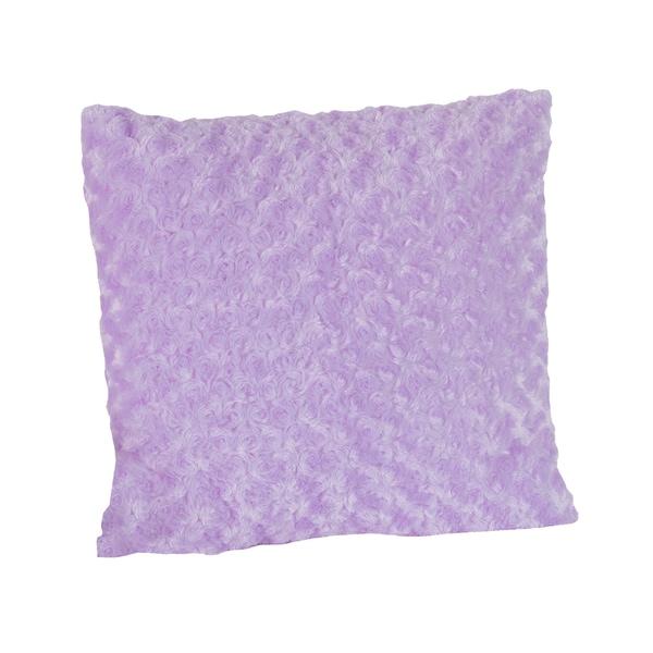 Sweet JoJo Designs Kaylee Purple Swirl Minky 16-inch Decorative Pillow