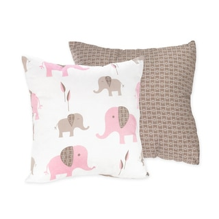 Sweet JoJo Designs Mod Elephant 16-inch Reversible Decorative Pillow