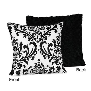 Sweet JoJo Designs Isabella Black and White 16-inch Reversible Decorative Throw Pillow