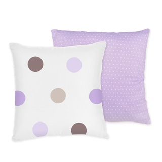 Sweet JoJo Designs Mod Dots Purple 16-inch Reversible Decorative Pillow