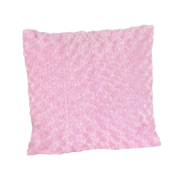 Sweet JoJo Designs Olivia Pink Swirl Minky 16-inch Decorative Pillow