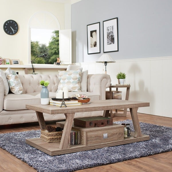 Furniture of America Naudine Angular 1-drawer Coffee Table