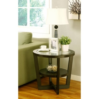 Furniture of America Orbicular Tempered Glass Kiki End Table