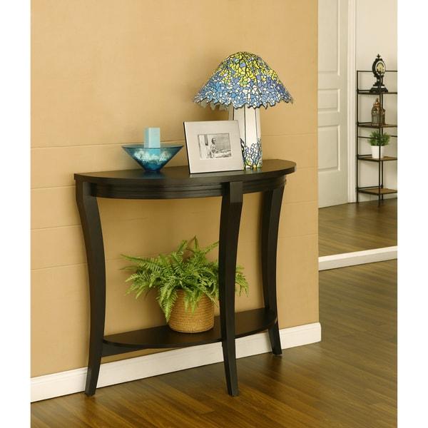Furniture of America Renesme Half-moon Sofa Table