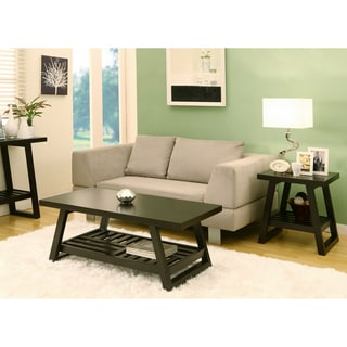 Furniture of America Celine Rectangular Coffee Table with End Table Set