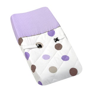 Sweet JoJo Designs Purple and Brown Mod Dots Changing Pad Cover