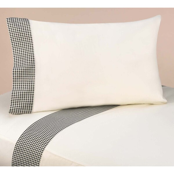 Sweet Jojo Designs Black French Toile Black/ Ivory Twin Sheet Set