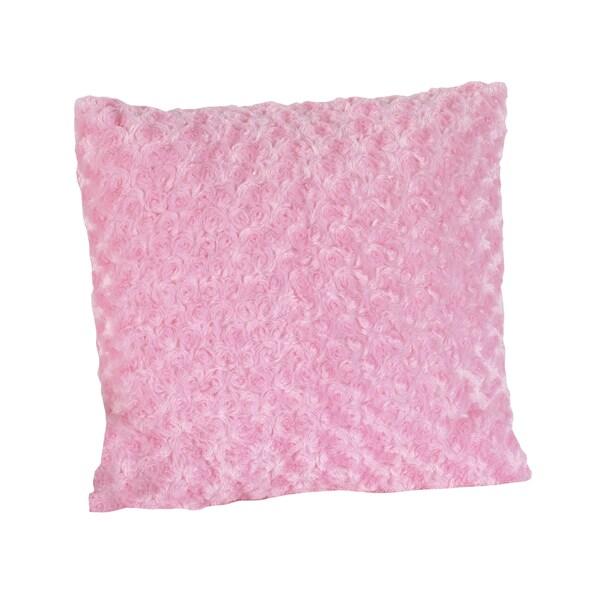 Sweet JoJo Designs 'Madison' Pink Swirl Minky 16-inch Decorative Pillow