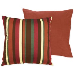 Sweet JoJo Designs 'Monkey' Reversible Stripe 16-inch Decorative Pillow