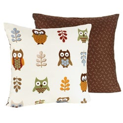 Sweet JoJo Designs 'Night Owl' Reversible 16-inch Decorative Pillow