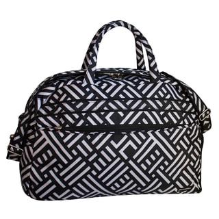 Jenni Chan Women's Signature Black/White Soft Gym Duffel Bag