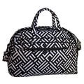 Jenni Chan Women's Signature Black/White Soft Gym Duffel Bag