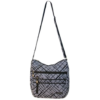Jenni Chan Women's Blue Brush Strokes Soft Crossbody Tote Bag