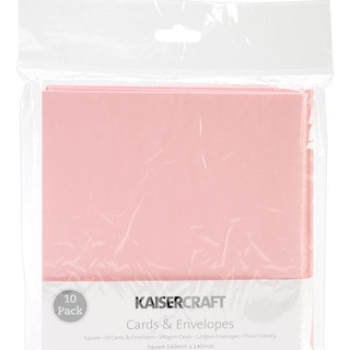 Square Card Pack-Baby Pink