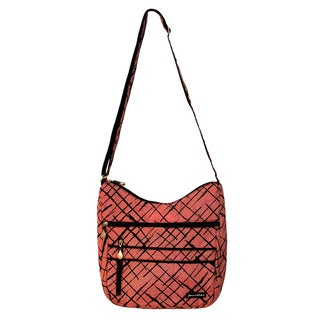 Jenni Chan Women's Red Brush Strokes Soft Crossbody Tote Bag