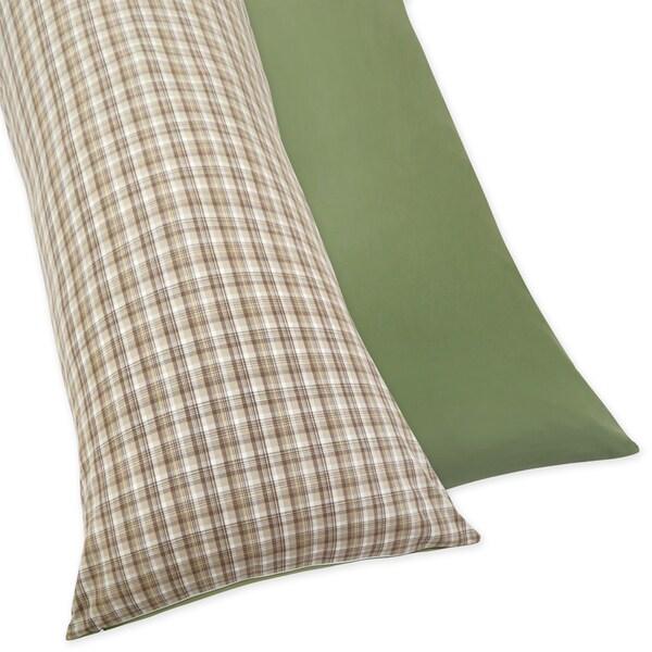 Sweet JoJo Designs Construction Zone Full Length Double Zippered Body Pillow Case Cover