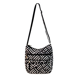 Jenni Chan Women's Signature Black/White Soft Crossbody Tote Bag