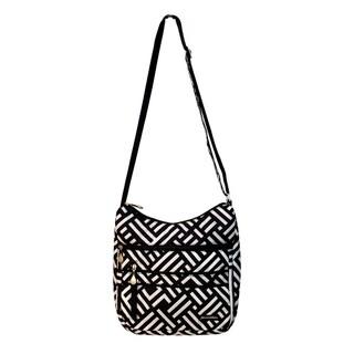 Jenni Chan Women's Signature Black/White Soft Crossbody Tote Bag