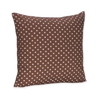 Sweet JoJo Designs Pink and Brown Mini Polka Dot Throw Pillow