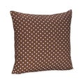 Sweet JoJo Designs Pink and Brown Mini Polka Dot Throw Pillow