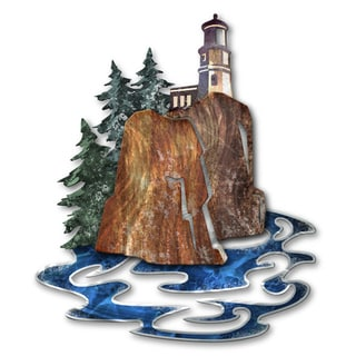 Josh Heriot 'Split Rock Light House' Metal Wall Art