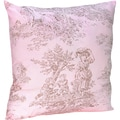 Sweet JoJo Designs Pink and Brown Toile Accent Throw Pillow