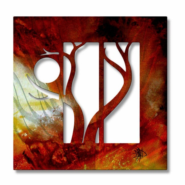 Megan Duncanson 'Forest in the Hot Sun' Metal Art