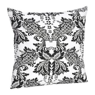 Sweet Jojo Designs Black and White Floral Damask Throw Pillow