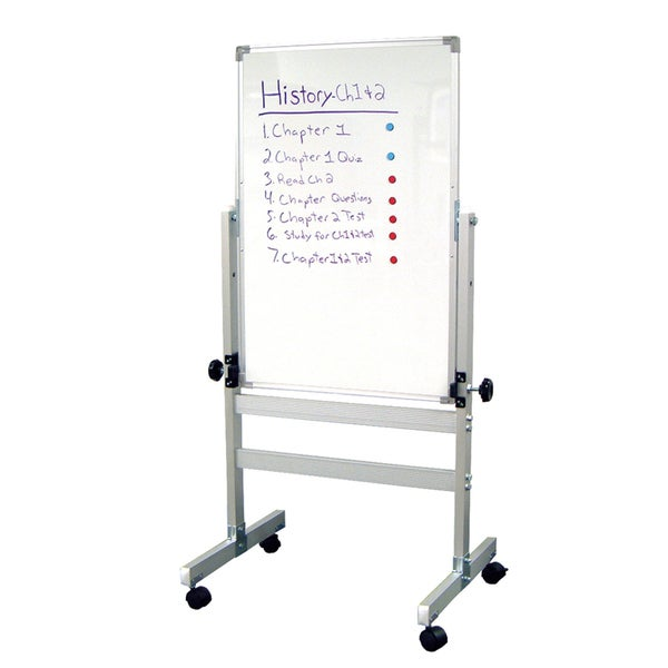 Offex Double Sided Aluminum Magnetic Interactive Presentation Whiteboard (24x36)
