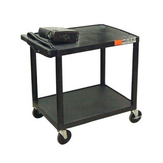 Offex Multi-Purpose Two-shelf Rolling Storage Cart with Electric