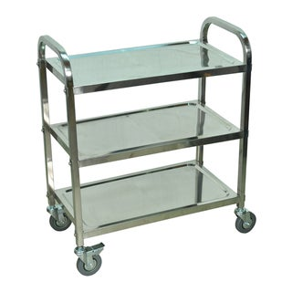 Offex Multi-Purpose 3-Shelf Stainless Steel Storage Multipurpose Industrial Furniture Cart