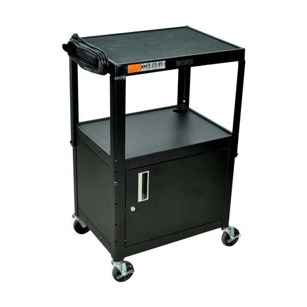 Offex Height Adjustable Steel AV Utility Cart
