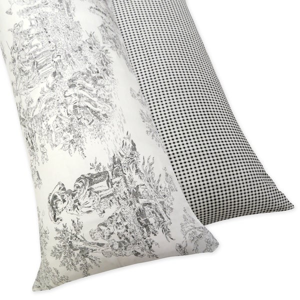 Sweet JoJo Designs French Toile Full Length Double Zippered Body Black/ Ivory Pillow Case Cover