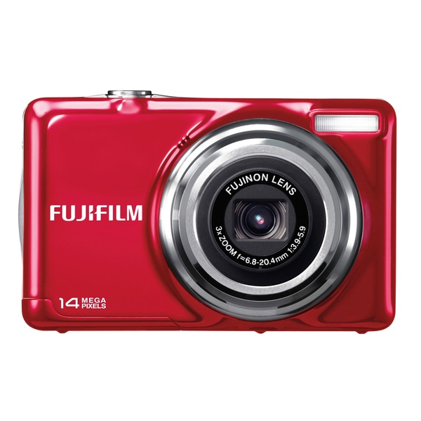 Fujifilm FinePix JV300 14 Megapixel Compact Camera - Red