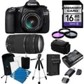 Canon EOS 60D Pro Digital SLR Camera with 18-55 IS II & 75-300 III Lens Bundle